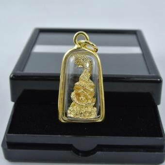 Pearl Jewelry จี้พญานาค องค์สีทอง งานเลี่ยมกรอบ PD50
