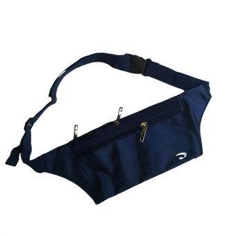 Kaidee กระเป๋าคาดเอว แนบตัว กันน้ำ ซิปแข็งแรง 3 ช่อง - JA1002 (สีกรมท่า)