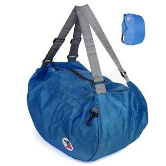 TravelGear24 กระเป๋าพับได้ พกพาได้ 3 แบบ 3 สไตล์ 3 Ways Foldable Bag (Navy/สีน้ำเงิน)