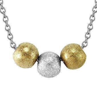 555jewelry สร้อยพร้อมจี้ลูกบอล รุ่น FSNK7 - สี Multicolors