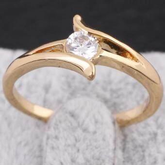 แหวนคู่แหวนแต่งงาน 18กิโลไบต์ทองการชุบ