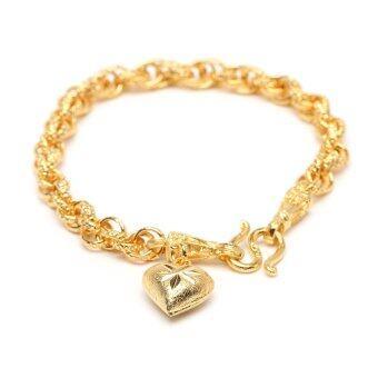 MONO Jewelry สร้อยข้อมือจากเศษทองแท้ลายห่วงคล้อง น้ำหนัก ๑ บาท