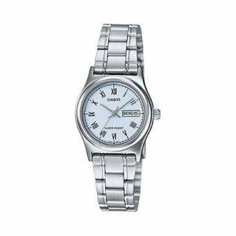 Casio Standard นาฬิกาข้อมือผู้หญิง สายแสตนเลส รุ่นLTP-V006D-2BUDF (Blue)