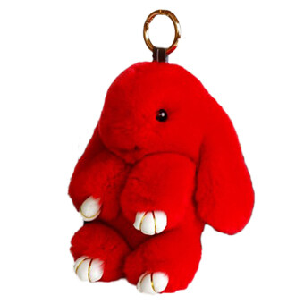 Harga 18Cm Rabbit Furs Keychain Pendant Bag Cute Mini Rabbit Toy Doll Red