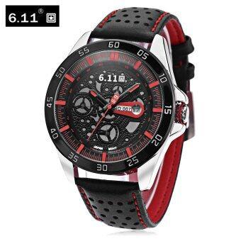6.11 NO-007 นาฬิกาข้อมือควอทซ์พลังงานแสงอาทิตย์แบบเข็ม มีปุ่มหมุนพร้อมแสดงวันที่