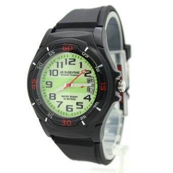 Submariner นาฬิกาข้อมือชาย-หญิง สายยาง ระบบเข็ม มีวันที่ หน้าปัดเขียวพรายนำ้ - SD-C03 (Green)