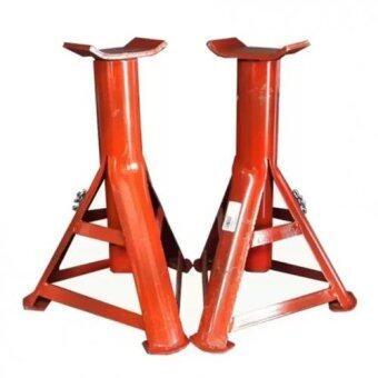 VAUKO : CLK CAR&TRUCK STAND ขาตั้งรถยนต์-รถกระบะ แบบ 3 ขา ขนาดกลาง(สีแดง)รุ่น CLK-TRIANGLE WHEEL-001 จำนวน 1 คู่ (2 ตัว)