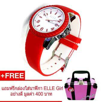 ELLE Girl นาฬิกาข้อมือผู้หญิง แบรนด์ดังจากฝรั่งเศส ออกแบบแนวแฟชั่น น่ารัก ทันสมัย รุ่น EL20214P04N - ( สีแดง )