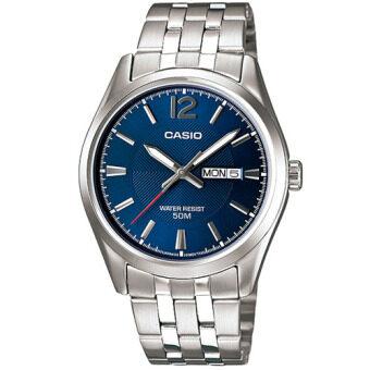 Casio Standard นาฬิกาข้อมือผู้ชาย สีน้ำเงิน สายสแตนเลส รุ่น MTP-1335D-2AVDF