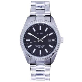Alba นาฬิกาข้อมือ หน้าปัดสีดำ รุ่น AH9005X1