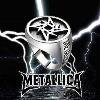 Harga Rorychen Vintage Charm Ring Rock Band Metallica Logo Ring Fashion Jewelry for Men - intl