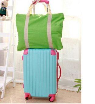 กระเป๋าผ้าอเนกประสงค์สะพายใบใหญ่ พับได้ (สีเขียว)