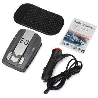 Harga 360° Full Band Scanning Voice Anti-Police LED GPS E8 Radar Detector X K Ka Ct La (Intl)