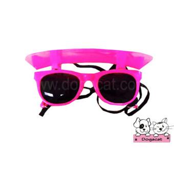 Dogacat แว่นกันแดดสุนัข แว่นกันแดดหมา แว่นกันแดดแมว สีชมพู