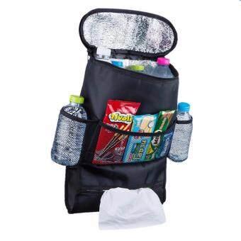 7-fifteen กระเป๋าจัดเก็บของอเนกประสงค์ในรถยนต์แบบพับเก็บได้ พร้อมช่องเก็บความร้อนและเย็น (สีดำ)