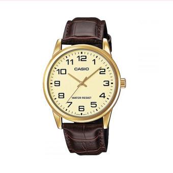 Casio นาฬิกาข้อมือผู้ชาย รุ่น MTP-V001GL-9BUDF (สีน้ำตาล)