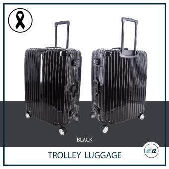 CBA Trolley Luggage Black กระเป๋าเดินทาง 20 นิ้ว สีดำ โครงอลูมิเนียม(Aluminium) พื้นผิววัสดุPC (Polycarbonate) ล้อ 4 คู่ หมุนอิสระ 360 องศา