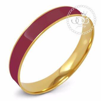 555jewelry กำไลสำหรับสุภาพสตรี รุ่น FSBG128-7 (Crimson/Yellow Gold)