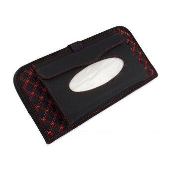 ซองใส่แผ่นซีดีและทิชชู่ ลายดำ/แดง (2 in 1)