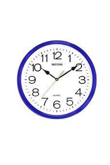 RHYTHM นาฬิกาแขวน รุ่น CMG734-NR11 (สีน้ำเงิน/ขาว)