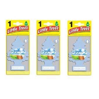 Little Trees® แผ่นน้ำหอมปรับอากาศ รูปต้นไม้ กลิ่น Summer Linen จำนวน 3 ชิ้น