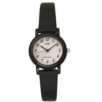 Casio Standard นาฬิกาข้อมือผู้หญิง สายเรซิ่น สีดำหน้าปัดโทนขาว รุ่น LQ-139AMV-1BLDF (ขาว)