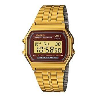 Casio Standard นาฬิกาข้อมือ สีทอง สายสแตนเลส รุ่น A159WGEA-5DF
