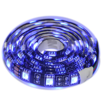 PCB Black 5050 SMD RGB 1M 60LED IP65 Waterproof Flexible Led Strip Light For Car Motorcycle