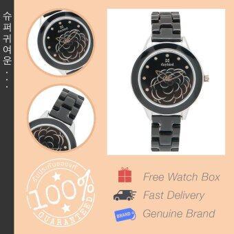 Daybird นาฬิกาข้อมือผู้หญิง สายเซรามิค รุ่น DB-3843-BK-SV สีดำ