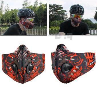 DTG Dust Mask หน้ากากมอเตอร์ไซค์ จักรยาน กันฝุ่นและมลพิษ (สีแดง/ดำ) จำนวน 1 ชุด