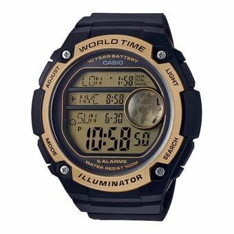 Casio Standard นาฬิกาข้อมือผู้ชาย สายเรซิ่น รุ่น AE-3000W-9AV - 10th year battery