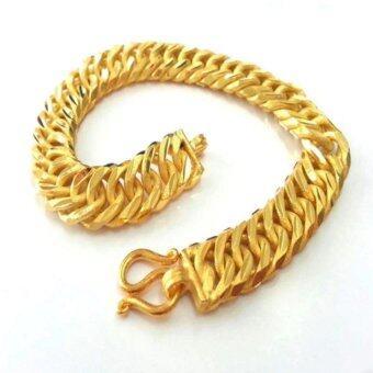 MONO Jewelry สร้อยข้อมือจากเศษทองแท้ลายแบนโปร่งพ่นทราย น้ำหนัก ๑ บาท