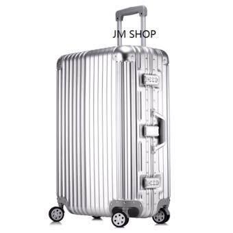 LEE กระเป๋าเดินทางล้อลาก 4 ล้อ ขนาด 25 นิ้ว รุ่น L187 - Silver