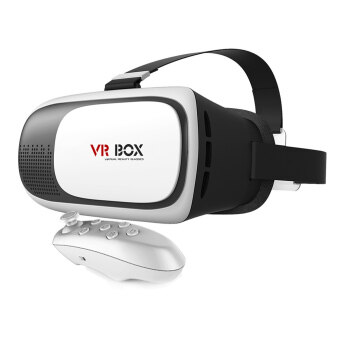VAKIND VR BOX 2.0 Version Virtual 3D Glasses + Bluetooth Gaming Remote Controller