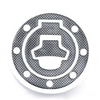 สร้างคาร์บอนดู 2ชิ้นเบาะถังน้ำมันสติ๊กเกอร์+ผ้าคลุมเบาะครอบติดแก๊สสำหรับ Suzuki Katana GSX 600F 750F R 600 750