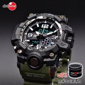 เปรียบเทียบราคา ฟรีกล่องเซ็ต! นาฬิกาข้อมือชาย แฟชั่น สปอร์ต เท่ EXPONI EP02BLGR SPORT CHRONOMETER WATCH check ราคา