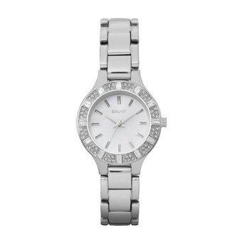 DKNY นาฬิกาข้อมือสตรี สแตนเลส Chambers Series รุ่น NY8485 (White Pearl)