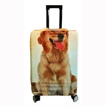 ผ้าคลุมกระเป๋าเดินทางแบบยืดลายสุนัขแมว S 20'