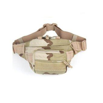 Harga New Waist Bag Tactical Bag Men Outdoor Sports Military Waist Pouch Fanny Pack Travel Bags (Three sand) - intl