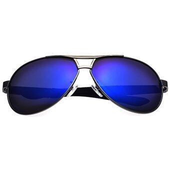 แว่นกันแดดโพลาไรซ์นักบินขับไล่พวกกีฬากลางแจ้งแดดแว่นตาแว่นตาสีน้ำเงิน-