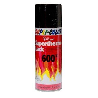 DUPLI COLORสีดำทนความร้อน600องศา ขนาด400 ml.