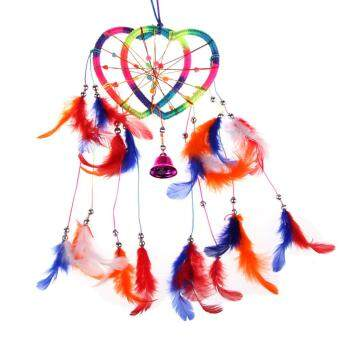 Harga Handmade Dream Catcher with feathers wall or car Heart hanging ornament - intl