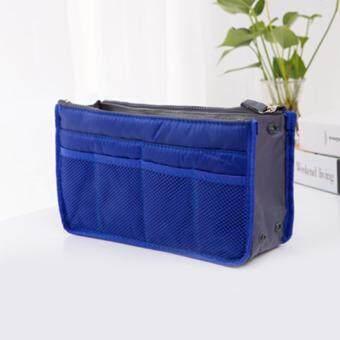 Smartshopping กระเป๋าจัดระเบียบของใช้ต่างๆ เหมาะสำหรับพกพา (สีน้ำเงิน)