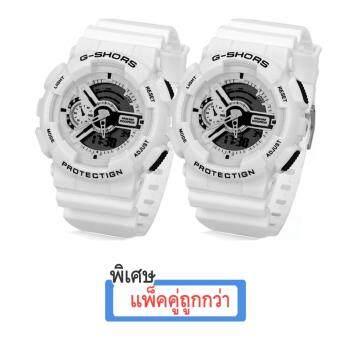 SHHORS GOLD Sport Watch นาฬิกาข้อมือ นาฬิกาสปอร์ต นาฬิกาออกกำลังกาย สไตล์นักกีฬา นาฬิกากันน้ำ สไตส์ นาฬิกาG Shock แพ็คคู่