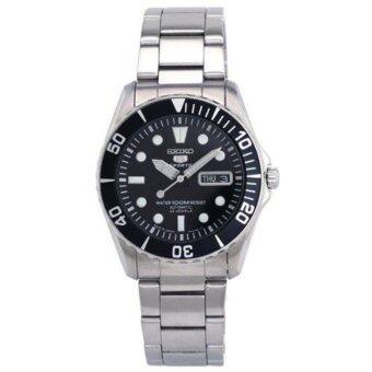 Seiko นาฬิกาข้อมือชาย SNZF17J1 5 Sports Automatic Stainless Steel Watch