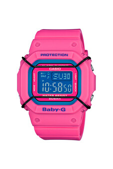 Casio Baby-G นาฬิกาข้อมือผู้หญิง สีชมพู สายเรซิ่น รุ่น BGD-501-4