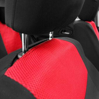 สีแดง 10ชิ้นคลุมพนักพิงศีรษะเบาะรถทั่วไปชุดโคสำหรับ 4 ฤดูกาล