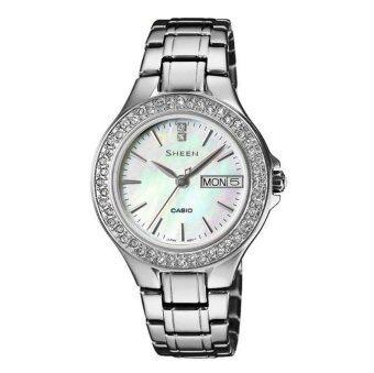 Casio Sheen นาฬิกาข้อมือผู้หญิง สายสแตนเลสสตีล สีเงิน SHE-4800D-7A - Silver