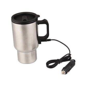 ถ้วยอุ่นกาแฟพร้อมสายเคเบิ้ล สแตนเลสสีเงิน 1 ชุด
