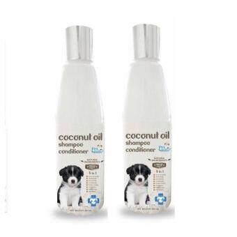 Pet Smile, แชมพูสุนัข สูตรน้ำมันมะพร้าวผสมคอนดิชันเนอร์, 250ml (2 ขวด)